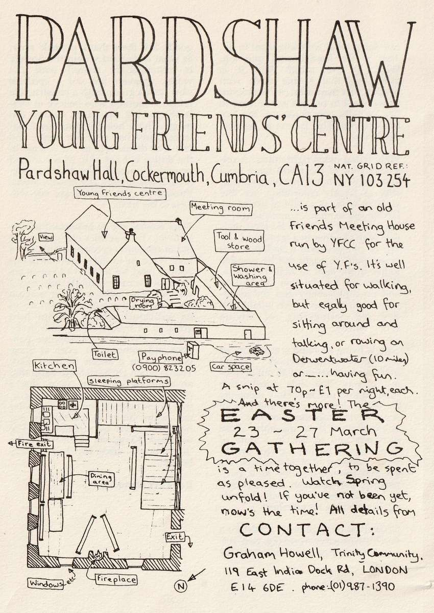 Advert from 'Young Quaker' magazine March 1989