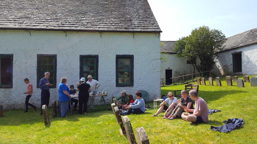 Al fresco dining at Pardshaw Easter Gathering 2019