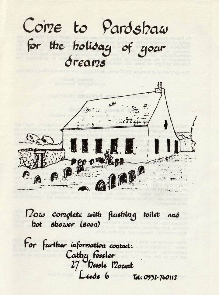 Advert from 'Young Quaker' magazine 8 March 1984
